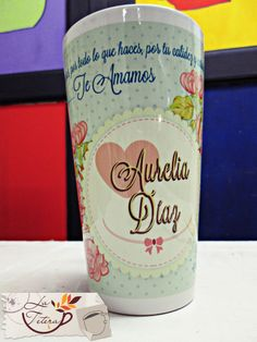 Personaliza tu mug con tu imagen favorita, mensaje o nombre! Te asesoramos en el diseño!! www.lateteramugs.com