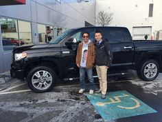 #Tundra! Celebrating at Ardmore Toyota. Congrats to Henry on the purchase of your All New 2015 Toyota #Tundra 4x4! Enjoy the great times in your #Pickup and send us more pics of you! Thank you from John and everyone at Ardmore Toyota! #OhWhatAFeeling