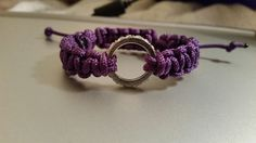 Paracord Bracelet with Circle (Halo) Charm