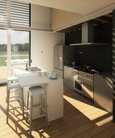 Passivhaus (Passive House) Design Proposal. Modern House. Architecture Visualisation. Revit and BIM.