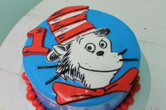 Cat in the Hat 1st birthday cake!