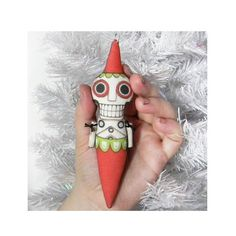 Skeleton Day of the Dead Sugar Skull Folk Art Ornament Doll-- Printed and Stuffed Cloth. $12.00, via Etsy.