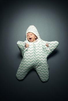 Babybites saco de dormir estrella verde