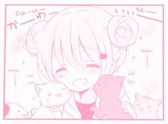 This is so cute! Anime Girl Pink, Manga Girl, Pink Girl, Anime Girls, Pink Aesthetic, Aesthetic Anime, Kawaii Cute, Kawaii Anime, Manga Rosa Pink