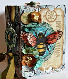 Heartfelt Sizzix Collection with Stampotique: Mixed-Media Passport Book Mini Album by Pam Bray
