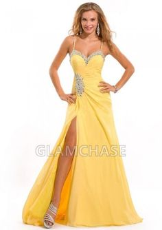 Daffodil Sleeveless Backless A-line Floor-length Beading Sweetheart Dresses