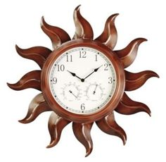Delightful Astonica 3 In 1 Outdoor Sun Clock Thermometer