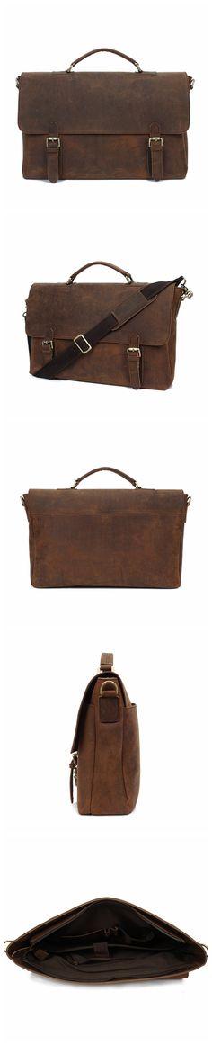 ROCKCOW New Man Handbag 100% Genuine Leather Business Messenger Bag Men Computer Shoulder Bag Luxurious Male Laptop Briefcase YD009A