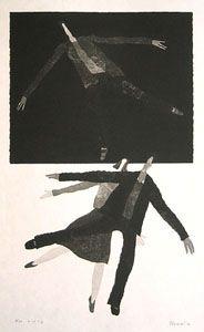 [Art Work / Japanese Prints] AOKI,Tetsuo[Title:N/A,(ref#:2001-AokTet30002)] ed.50, image size:41(cm)x24(cm), '00, woodblock