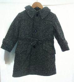 Manteau fille vintage gris par Jeanneetlouis sur Etsy