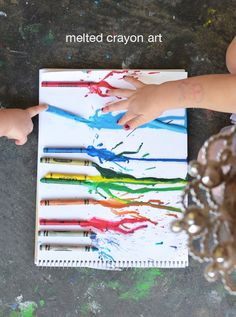 Melted Crayon Art for Toddlers | Meri Cherry Blog