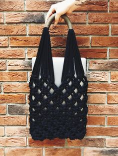 This macrame shoulder bag is made from a very soft 100% cotton cord that is pleasant to the touch and in summer you will be comfortable wearing it on your shoulder. The bag is very convenient for going to the market and it looks very stylish. You can use this macrame tote bag not only to go