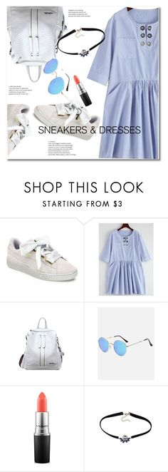 """""""Sporty Chic: Sneakers and Dresses"""" by svijetlana ❤ liked on Polyvore featuring Puma, MAC Cosmetics, zaful and SNEAKERSANDDRESSES"""