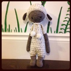LUPO the lamb made by Erin M. / crochet pattern by lalylala