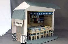 Sushi Bar & Restaurant Paper Model - by Paper Museum        From Paper Museum Japanese website, here is a beautiful paper model diorama representing a classic Sushi Bar & Restautant in 1/12 scale.
