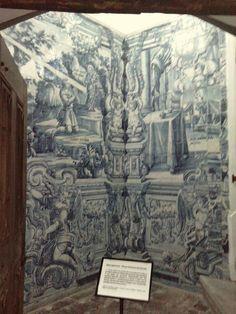 18th century glazed tiles in the Convent of Nossa Senhora da Estrela #Marvao #Alentejo #Portugal