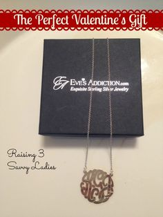 #Win a Sterling Silver Monogram Necklace from @Eves Addiction