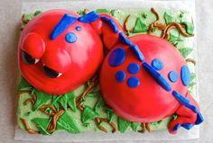 Dino Party: Red Dino Cake