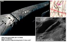 evidence of an alien spaceship on the moon, far side of moon, secret NASA mission, Appollo Mona Lisa. Aliens And Ufos, Ancient Aliens, Ancient History, Craters On The Moon, Alien Crafts, Alien Artifacts, Alien Ship, Planets And Moons, Alien Spaceship