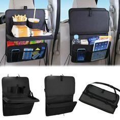 Plegable del coche bolsa de mesa de comida, bebida taza bandeja de soporte de almacenamiento organizador Venta - Banggood.com