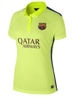14-15 Football Shirt Barcelona Cheap Away Third Green Womens Jersey [A172]
