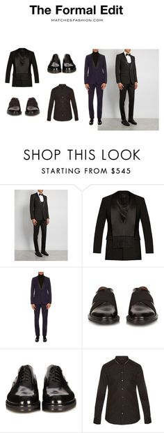"""""""The Formal Edit"""" by matchesfashion ❤ liked on Polyvore featuring Dolce&Gabbana, Givenchy, Yves Saint Laurent, Fendi, men's fashion and menswear"""