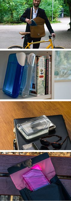 Two young entrepreneurs from Germany, Felix Durst and David Ziegler, have created the Aquabook, a flat water bottle designed to fit into a briefcase or purse.