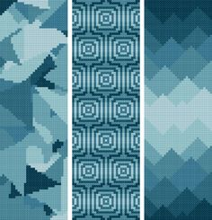 Bookmark 11. 3 abstract bookmarks. Free cross stitch pattern