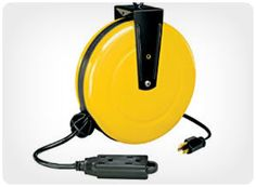 Men gift idea. .....For the handy man...i.e. retracting extension cord reel and more.