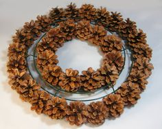 Pine Cone Centerpieces and Crafts | Pine Cone Wreaths - A Tutorial
