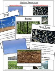 Natural Resources: Information cards, photographic sorting cards, and control charts for natural resources. Printable Montessori science materials and lessons for children by Montessori Print Shop. Kindergarten Science, Science Classroom, Teaching Science, Science Education, Science For Kids, Earth Science, Science And Nature, Classroom Ideas, Science Resources