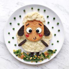 Meet The Talented Daryna Kossar (Food Art & Creative Ideas) title Food Crafts, Diy Food, Food Ideas, Dinners For Kids, Kids Meals, Cute Food, Good Food, Creative Food Art, Creative Ideas