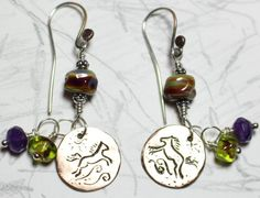 Year of the Horse Earthy Raku lamp work earrings by Mountaindreamers, $35.00 :) These are cool!