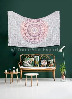Twin Mandala Tapestries Cotton Ombre Beach Blanket Hippie Wall Hanging Bedspread in Home, Furniture & DIY, Home Decor, Wall Hangings | eBay