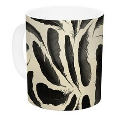 East Urban Home Feather by Skye Zambrana 11 oz. Ceramic Coffee Mug