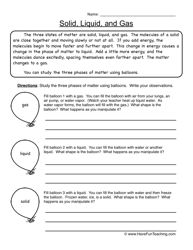 The 93 best grade 4 science worksheets images on pinterest solid liquid gas worksheet ibookread PDF