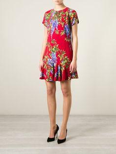 Dolce & Gabbana Vestido evasê de seda