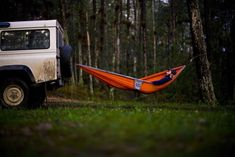"""DL's Branding Tip: """"Make time to re-charge and re-group.""""  #LandRover Defender Hammock"""
