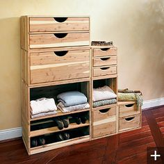 Cedar Stackable Closet Storage