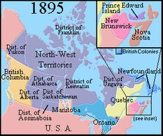 Map of Canada 1862 Brief History of Canada 1800 to 1866