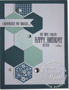 Six sided sampler Hexagon punch ; Birthday