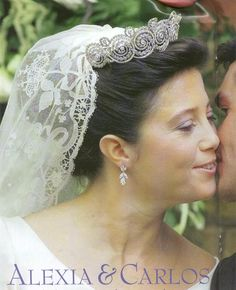 Anne Marie and Constantine's daughter, Alexia wore the Khedive of Egypt tiara when she married Carlos Morales Quintana on 9th July 1999.