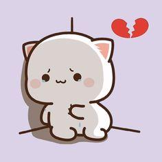 Cute Cartoon Images, Cute Love Cartoons, Cute Images, Cute Love Pictures, Cute Love Gif, Funny Stories For Kids, Chibi Cat, Sad Cat, Small Drawings