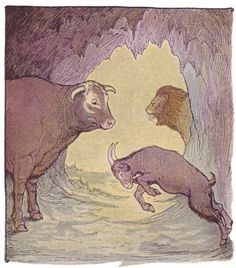 The Bull and the Goat - Aesop's Fables for Children, 1919
