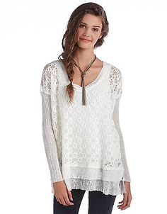 Boxy Textured Diamond Weave Pullover Sweater | Lord and Taylor