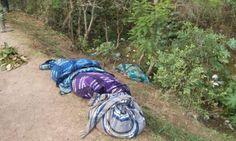 Encobijados y desollados en Chilapa. Foto: Especial