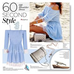"""60 Second Style: Off - Shoulder Dress"" by vanjazivadinovic ❤ liked on Polyvore featuring Chanel, polyvoreeditorial, 60secondstyle and nastydress"