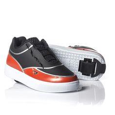 99bb615cba1 Tênis Infantil Estica e Puxa com Rodinha Ortopé Preto Vermelho é um calçado  com tiras removíveis