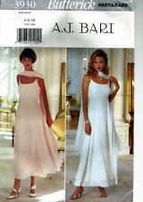 """Women's Evening Dress - Gown (Stole)- Butterick 3930  """"A. J. Bari"""" (6-10)  Uncut"""