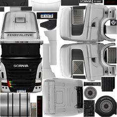 Paper Model Car, Paper Models, American Truck Simulator, Heavy Truck, Honda Logo, Scale Models, Diecast, Super Cars, Trucks
